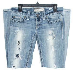BKE Jeans Stella Straight Leg Blue 26 Short BO